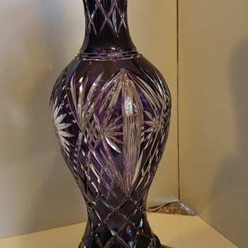 Favorite cut to clear lamp - Art Glass