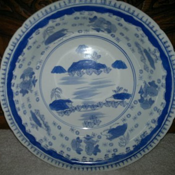 Large BLue & White  Chinese Bowl - Asian
