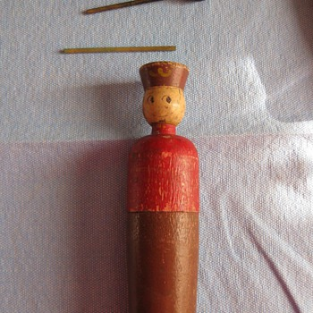 Antique wooden toy soldier