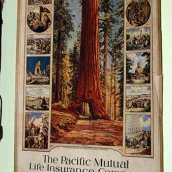 1924 Pacific Mutual Life Insurance Company Calendar - Paper