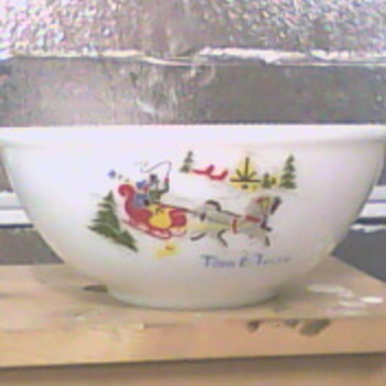 Tom &amp; Jerry Milk glass bowl