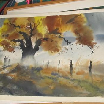 watercolor or print - Visual Art