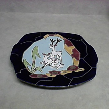 2  ISRAEL TECRAMIC PLATES 1940 AND  1942 - Art Pottery