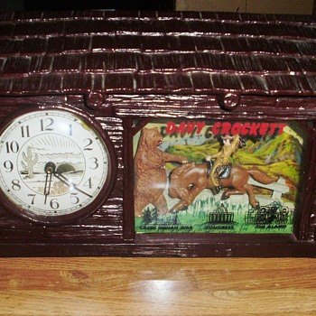 Davy Crockett Animated Electric Clock