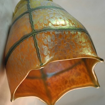 My very own set of Loetz art glass shades. :O) I hope you will enjoy the images and the story. - Art Glass
