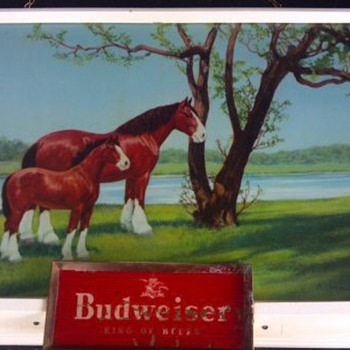 VINTAGE BUDWEISER BAR LIGHT  - Breweriana