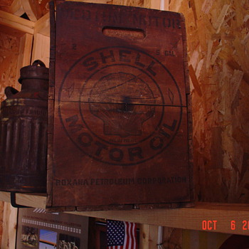 Shell Motor Oil Wood Crate