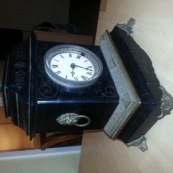 Ingraham or Ansonia? Mantel Clock with Eagle and Lion