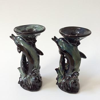 Dolphin vase/candle holder/tiki mug/ - Pottery