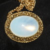 Costume Brooch/Pendant with Opaline Glass