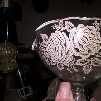 cool find at estate sale - Glassware