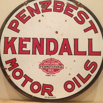 Penzbest Kendall Sign - Petroliana