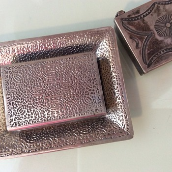 Tiffany matchbox/snuff box with Tray