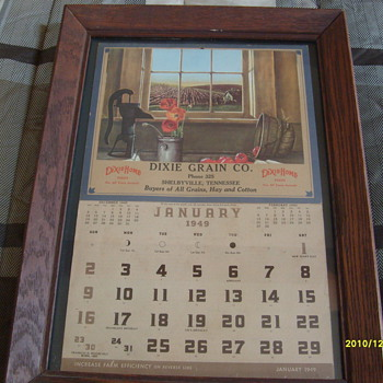 1949 Dixie Grain Co. Calendar - Advertising