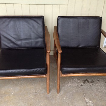 Retro Japanese made Danish lounge chairs