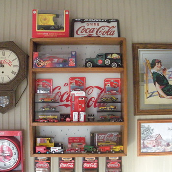 Coca Cola display shelf.  - Coca-Cola