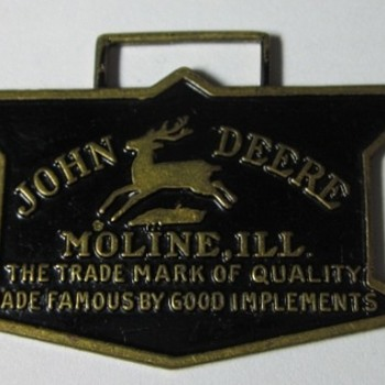 1936 John Deere Logo Watch Fob by Robbins Co.  - Pocket Watches