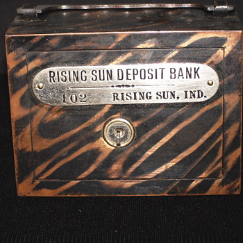 "Promotional Advertising Steel Bank""Rising Sun Deposit Bank,Rising Sun, Indiana - Coin Operated"