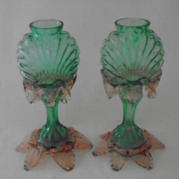Welz Translucent Glass Vases