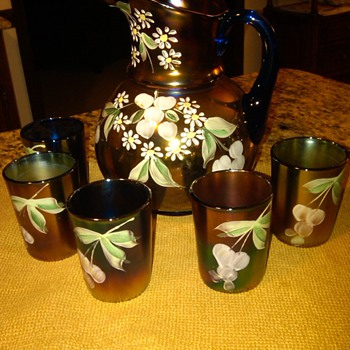 Fenton pitcher set, my most recent auction find - Glassware