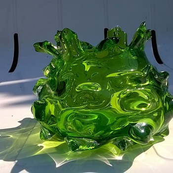 Little Green Vase, Thrift Shop Find 80 Cents - Art Glass