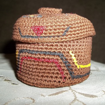 Tlingit Knob Top Woven  Trinket Basket by Dorrie Jackson - Native American