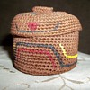 Tlingit Knob Top Woven  Trinket Basket by Dorrie Jackson