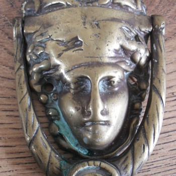 Art Nouveau Brass door knocker