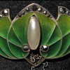 Levinger & Bissinger plique-a-jour enamel brooch.