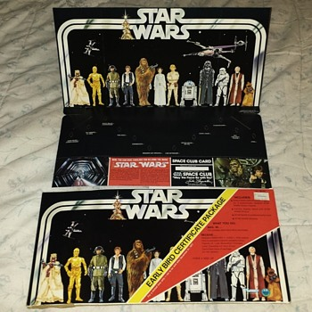 Neat Old 1977 Star Wars Display Board in Original Package