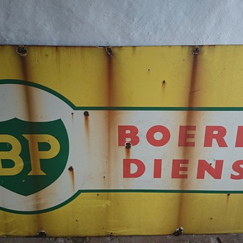 Vintage Bp and Coopers' sign