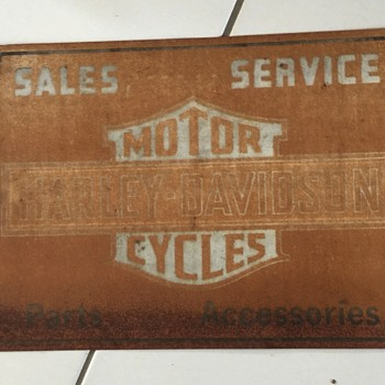 Harley Davidson dealer sign ,original or repop??? tks fellow Harley lovers - Advertising