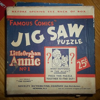 LITTLE ORPHAN ANNIE PUZZLE - Games