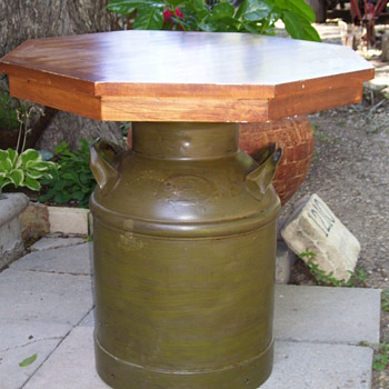 Antique Milk Can Table - Furniture