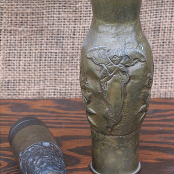 World War One Trench Art Brass shell piece