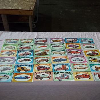 1970 GEORGE BARRIS CARS CARDS - Cards