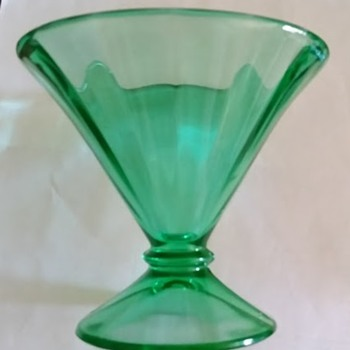 Green Vase or Candle Holder or Bowl