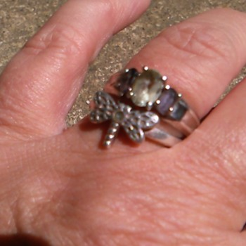 925 silver marked made in china amethyst and? - Asian