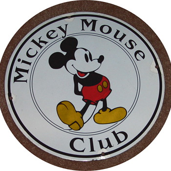 Mickey Mouse Club porcelain sign - Signs