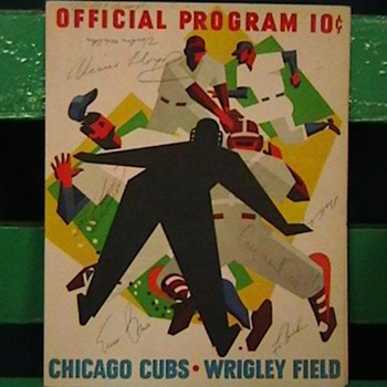 1963 Cubs Scorecard Signed by Roberto Clemente, Ernie Banks, & Others - Baseball
