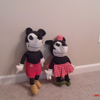 Vintage Mickey and Minnie Mouse dolls - Dolls