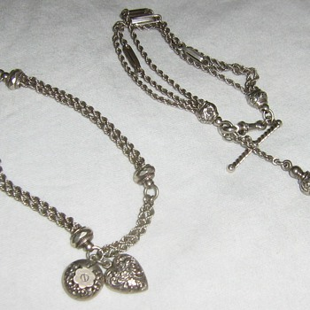 White metal watch chains turned bracelets - Fine Jewelry