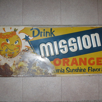 Rough Mission Orange tin sign