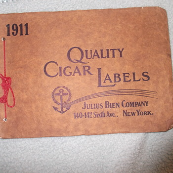Salesman's Cigar Box Labels Collection 1911 Julius Bien - Tobacciana