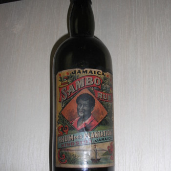 Old Sambo Rum Bottle - Bottles