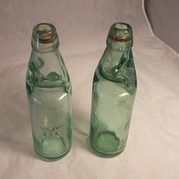 Cream Neck Dairy Bottle Glass bead