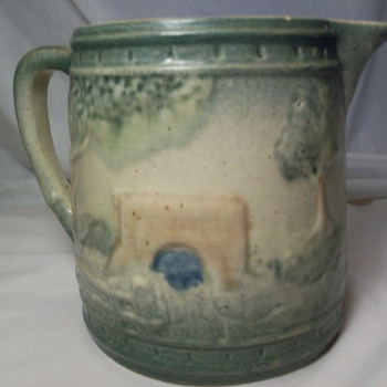 green pitcher - Art Pottery