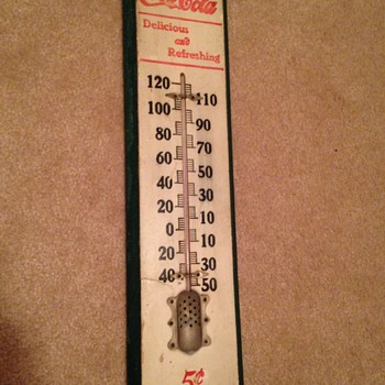 1905 Wood Coca-Cola Thermometer  - Coca-Cola