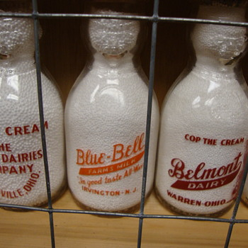 Pint size cop the cream milk bottles... - Bottles