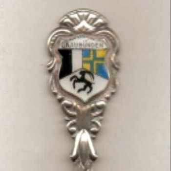 "Souvenir Spoon - ""Graubünden"" (Switzerland) - Sterling Silver"